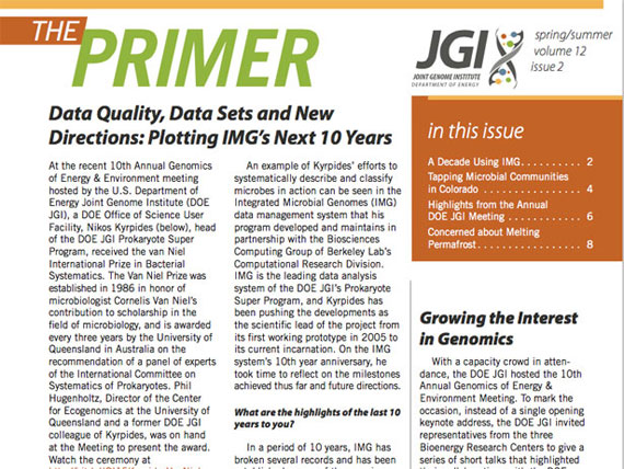 cover of the JGI Spring/Summer 2015 Primer